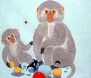 Chinese Aap Schilderkunst