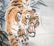 Chinese Tijger Schilderkunst