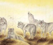 Chinese Wolf Schilderkunst