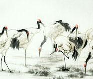 Chinese Kraan Schilderkunst