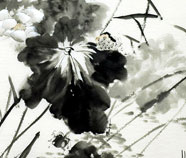 Chinese Lotus Schilderkunst