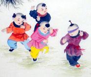Chinese Jongens Schilderkunst