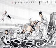 Chinese  Acht Onsterfelijken Schilderkunst
