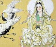Chinese Guanyin Pusa Schilderkunst
