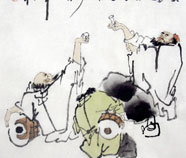 Chinese  Thee & Wijn Schilderkunst