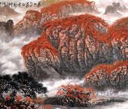Chinese Bergen Schilderkunst