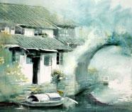 Chinese Water Dorpen Schilderkunst