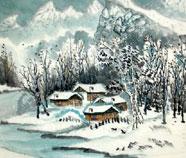 Chinese Sneeuw Schilderkunst