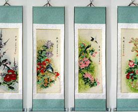 Prachtige Chinese Rolschilderijen
