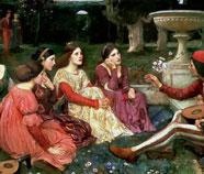 Familie en Groepen olieverfschilderijen