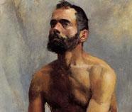 Mannen in Kunst olieverfschilderijen