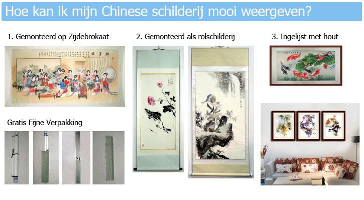 Hoe kan ik een chinees schilderij ophangen?
