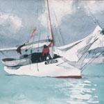 Pitture ad olio di Scene del porto