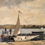 Harbor Scenes Oil Painting Reproductions